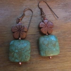 Jewelry - Mosaic turquoise earrings
